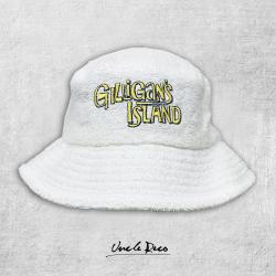 ISLAND WHITE TERRY TOWELLING BUCKET HAT