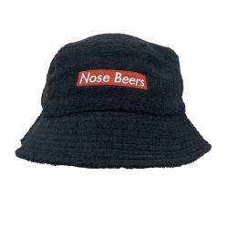 NOSE BEERS BLACK TERRY TOWELLING BUCKET HAT