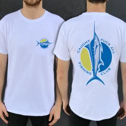 FISHING CLUB FRONT AND BACK WHITE TEE