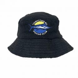 BLACK FISHING CLUB TERRY TOWELLING BUCKET HAT