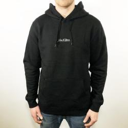 UNCLE RECO EMBROIDERED BLACK HOODIE