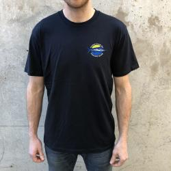 CAUGHT F ALL FISHING CLUB EMBROIDERED NAVY TEE