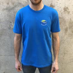 CAUGHT F ALL FISHING CLUB EMBROIDERED ARCTIC BLUE TEE
