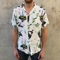 SWOOPING SEASON RAYON BUTTON UP PARTY SHIRT