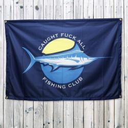 FISHING CLUB FLAG BANNER 1200 X 800MM