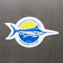 FISHING CLUB DIE CUT STICKER