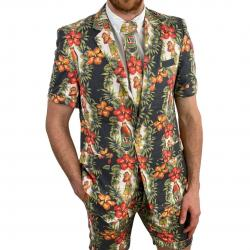 BLACK HULA MENS PARTY SUIT