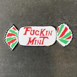 MINT DIE CUT STICKER