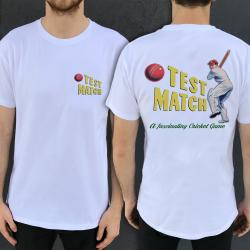 TEST MATCH FRONT AND BACK WHITE TEE