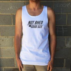 NOT BHED WHITE SINGLET