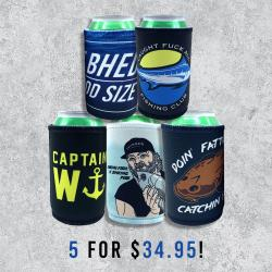THE FISHERMANS STUBBY 5-PACK COMBO