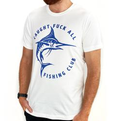 CAUGHT F ALL FISHING CLUB WHITE TEE