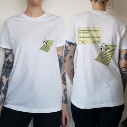 WOMENS CLIP FRONT AND BACK TEE