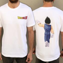VEGETA FIST BUMP FRONT AND BACK FUSION TEE