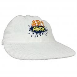ART ATTACK VINTAGE WHITE CORD HAT