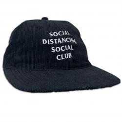 SOCIAL DISTANCING BLACK CORD HAT