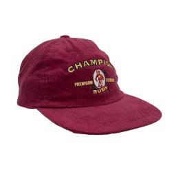 MAROON CHAMPION CORD HAT VINTAGE