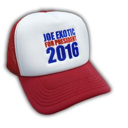 EXOTIC FOR PRESIDENT TRUCKER HAT