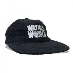 WAYNES WORLD CORD HAT BLACK