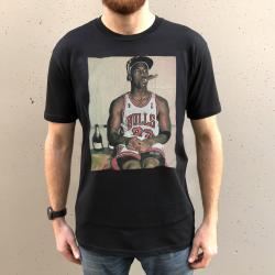 SMOKING HOT JORDAN ON BLACK TEE