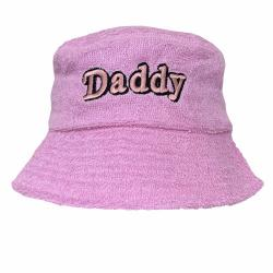 DADDY PINK TERRY TOWELLING BUCKET HAT