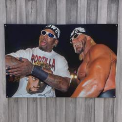 WRESTLING RODMAN WALL HANGING 1000 X 660MM