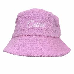 CURSIVE PINK TERRY TOWELLING BUCKET HAT