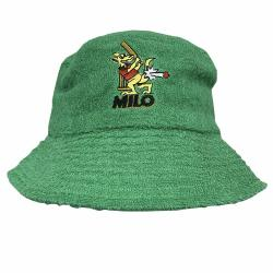 GREEN CRICKET KANGAROO TERRY TOWELLING BUCKET HAT