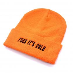 ORANGE HI VIS FUCK ITS COLD BEANIE