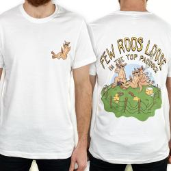 FEW ROOS LOOSE FRONT AND BACK WHITE TEE