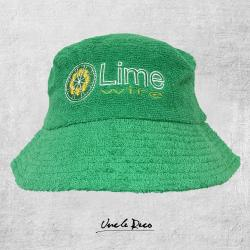 LIME VINTAGE GREEN TERRY TOWELLING BUCKET HAT