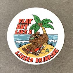 FLAT OUT LIKE A LIZARD DIE CUT STICKER