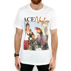 TRIBUTE ACE VENTURA VINTAGE WHITE TEE