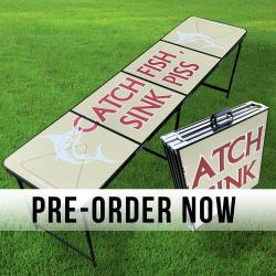 PRE ORDER CATCH FISH SINK PISS BEER PONG TABLE
