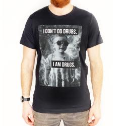 BLACK I DON'T DO DRUGS TEE