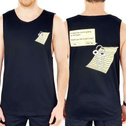 CLIPPY FRONT AND BACK BLACK TANK