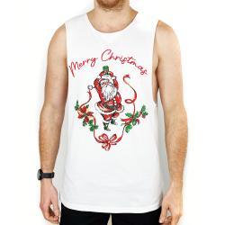 MERRY CHRISTMAS WHITE TANK