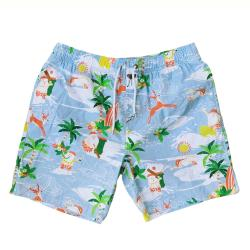 HAWAIIAN SANTA BEACH SHORTS