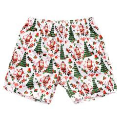 TINNIES XMAS TREE BEACH SHORTS