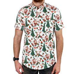 TINNIES XMAS TREE BUTTON UP SHIRT