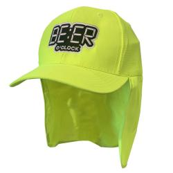 BEER O'CLOCK LEGIONNAIRES HAT HI VIS GREEN