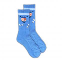 WANNA GET HIGH BLUE TOWELIE SOCKS