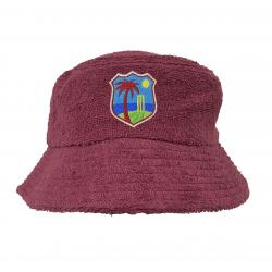 WEST MAROON TERRY TOWEL BUCKET HAT