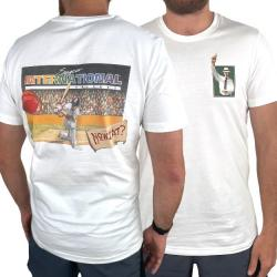 INTERNATIONAL CRICKET FRONT AND BACK WHITE TEE