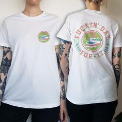 WOMENS DAY FOR IT FRONT AND BACK WHITE TEE