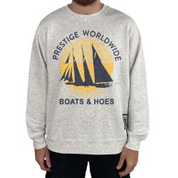 BOATS N HOES WHITE MARLE CREW