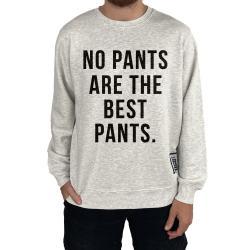 NO PANTS WHITE MARLE CREW