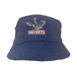 SHOOHEYS NAVY TERRY TOWEL BUCKET HAT