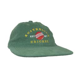 AUSTRALIAN CRICKET GREEN CORD HAT