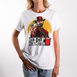 WOMENS RED CUP REDEMPTION WHITE TEE
